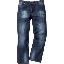 """Dżinsy Regular Fit Bootcut bonprix ciemnoniebieski """"used"""". Niebieskie jeansy męskie regular bonprix. Za 109,99 zł."""