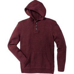 Swetry męskie: Sweter z kapturem Slim Fit bonprix czerwony klonowy