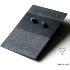 Kolczyki damskie: kolczyki srebrne geometryczne wkrętki DIAMOND I