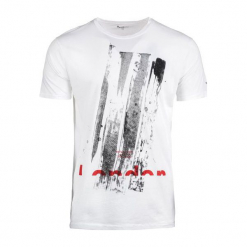 Pepe Jeans T-Shirt Męski Ravenscourt M Biały. Białe t-shirty męskie Pepe Jeans, m, z jeansu. Za 182,00 zł.