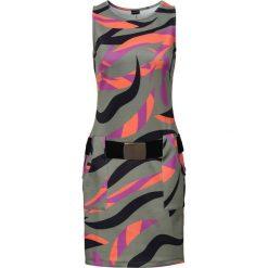 Sukienki: Sukienka z kieszeniami bonprix oliwkowy z nadrukiem