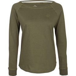 Koszulka w kolorze oliwkowym. Brązowe t-shirty damskie Dreimaster, xs, z bawełny, z okrągłym kołnierzem. W wyprzedaży za 85,95 zł.