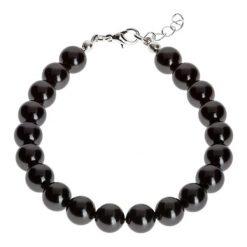 Bransoletki damskie: Bransoletka z pereł w kolorze czarnym