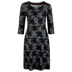 S.Oliver Sukienka Damska 42 Czarna. Czarne sukienki z falbanami S.Oliver, s, z długim rękawem. Za 259,00 zł.