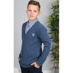 Granatowy Sweter Zapinany  NDZ8014. Niebieskie swetry chłopięce Fasardi. Za 69,00 zł.