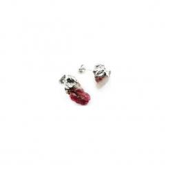 Kolczyki Turmalin Różowy srebro. Czerwone kolczyki damskie marki Brazi druse jewelry, posrebrzane, na sztyftcie. Za 170,00 zł.