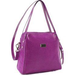 Torebki klasyczne damskie: Skórzana torebka w kolorze fioletowym – (S)23 x (W)25 x (G)13 cm