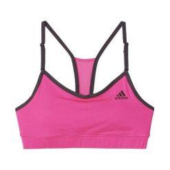 Biustonosze sportowe: Adidas Biustonosz sportowy Strappy Solid W Bra różowy r. S (AJ6571)
