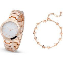 Zegarek z bransoletką bonprix kolor czerwonego złota - biały. Żółte bransoletki damskie marki Nomination, z mosiądzu. Za 54,99 zł.