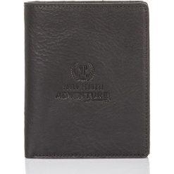 Skórzany portfel SLIM cienki HUGO Paolo Peruzzi. Czarne portfele męskie marki Solier, z materiału. Za 99,00 zł.