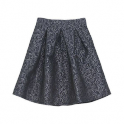 Granatowa Spódnica Carefully. Szare minispódniczki marki Born2be, z tkaniny, eleganckie, rozkloszowane. Za 39,99 zł.