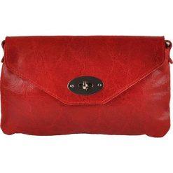 Puzderka: Skórzana kopertówka w kolorze czerwonym – 23 x 15 x 2 cm