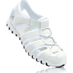 Sandały bonprix biały. Szare buty sportowe damskie marki bonprix, z materiału. Za 74,99 zł.