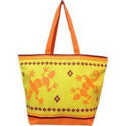 """Torba plażowa """"Bohème"""" w kolorze złoto-pomarańczowym - 35 x 58 x 23 cm. Brązowe torby plażowe Le Comptoir de la Plage, z tworzywa sztucznego. W wyprzedaży za 38,95 zł."""