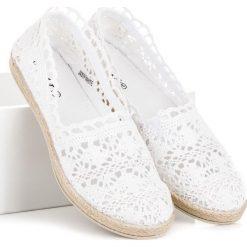Tomsy damskie: Białe koronkowe espadryle ELLA białe
