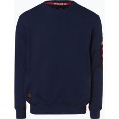Alpha Industries - Męska bluza nierozpinana, niebieski. Czarne bluzy męskie rozpinane marki Alpha Industries, m, z aplikacjami. Za 299,95 zł.