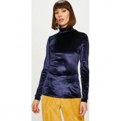 Answear - Bluzka Heritage. Szare bluzki z golfem marki ANSWEAR, l, z dzianiny, casualowe. Za 89,90 zł.