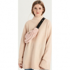 Luźny sweter z golfem - Kremowy. Białe golfy damskie marki Sinsay, l. Za 79,99 zł.