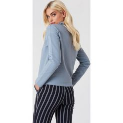 NA-KD Bluza z suwakiem - Blue. Niebieskie bluzy rozpinane damskie NA-KD, z bawełny, z długim rękawem, długie. Za 161,95 zł.