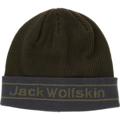 Czapka JACK WOLFSKIN - Pride Knit Cap 1907261 Pinewood. Czarne czapki z daszkiem męskie marki Jack Wolfskin, w paski, z materiału. Za 85,99 zł.