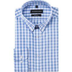 Koszula SIMONE KDWR000232. Białe koszule męskie na spinki Giacomo Conti, m, z bawełny, button down, z długim rękawem. Za 149,00 zł.
