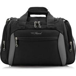 Torba na ramię V25-3S-236-00. Czarne torby na ramię męskie Wittchen, w paski, z poliesteru, duże. Za 125,00 zł.