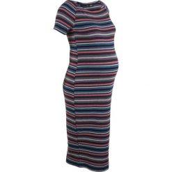 Sukienka ciążowa shirtowa bonprix w kolorowe paski. Białe sukienki ciążowe marki numoco, do pracy, l, z nadrukiem, z elastanu, biznesowe, z kopertowym dekoltem, z długim rękawem, kopertowe. Za 59,99 zł.