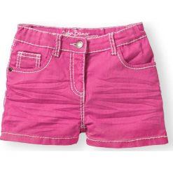 Spodenki dziewczęce: Szorty z ozdobnymi zagnieceniami bonprix różowy flaming