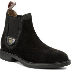 Sztyblety GANT - Lydia 15543035  Black G00. Czarne buty zimowe damskie GANT, z materiału. W wyprzedaży za 389,00 zł.