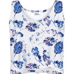 Colour Pleasure Koszulka damska CP-035 154  biało-niebieska r. XS/S. Fioletowe bluzki damskie marki Colour pleasure, uniwersalny. Za 64,14 zł.