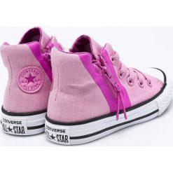 Converse - Trampki dziecięce. Szare buty sportowe dziewczęce Converse, z materiału. W wyprzedaży za 169,90 zł.