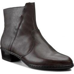Botki RIEKER - Y0769-45 Grey. Czarne buty zimowe damskie marki Rieker, z materiału. W wyprzedaży za 199,00 zł.