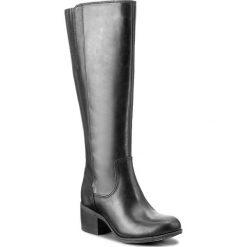 Kozaki CLARKS - Maypearl Viola 261294494 Black. Czarne buty zimowe damskie Clarks, z materiału, przed kolano, na wysokim obcasie, na obcasie. W wyprzedaży za 439,00 zł.