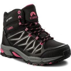 Trekkingi ELBRUS - Gabby Mid Wp Black/Fuschsia. Czarne buty zimowe damskie marki ELBRUS, z materiału. W wyprzedaży za 219,00 zł.