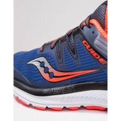 Saucony GUIDE ISO Obuwie do biegania Stabilność blue/grey/vizired. Niebieskie buty do biegania męskie Saucony, z gumy. Za 589,00 zł.
