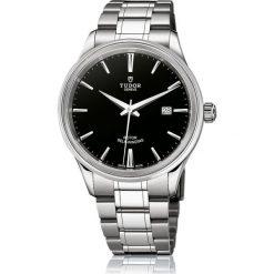 PROMOCJA ZEGAREK TUDOR STYLE. Czarne zegarki męskie TUDOR, ze stali. W wyprzedaży za 6560,00 zł.