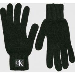 Calvin Klein Jeans - Rękawiczki. Czarne rękawiczki męskie marki Calvin Klein Jeans, z dzianiny. Za 139,90 zł.