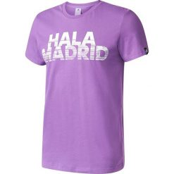 Adidas Koszulka Real Graphic Tee Better fioletowa r. M (AZ5356). Fioletowe koszulki sportowe męskie marki Reserved, l, z bawełny. Za 103,58 zł.