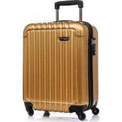WALIZKA KABINOWA Q-BOX 52 CM (S) MIEDŹ SWISSBAGS+. Brązowe walizki marki SWISSBAGS. Za 458,07 zł.