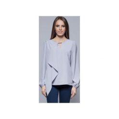 Bluzki damskie: Zwiewna bluzka z asymetrycznym przodem szara H017