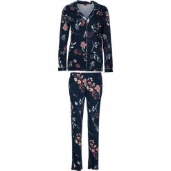 """Piżama """"Flower Dreams"""" w kolorze granatowym. Białe piżamy damskie marki LASCANA, w koronkowe wzory, z koronki. W wyprzedaży za 113,95 zł."""