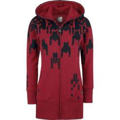 Bluzy rozpinane damskie: RED by EMP Freaking Out Bluza z kapturem rozpinana damska bordowy