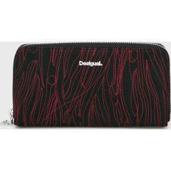 Desigual - Portfel. Brązowe portfele damskie marki Desigual, z materiału. W wyprzedaży za 169,90 zł.