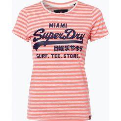 T-shirty damskie: Superdry – T-shirt damski, czerwony