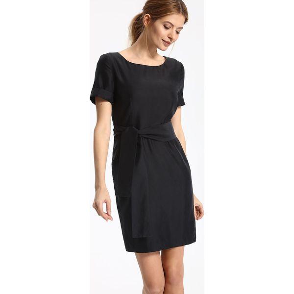 1464d9be49 SUKIENKA DAMSKA GŁADKA - Czarne sukienki damskie Top Secret