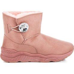 Śniegowce zapinane na guzik ANGELINE. Różowe buty zimowe damskie ANESIA PARIS. Za 59,00 zł.
