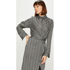 Answear - Sukienka. Szare sukienki na komunię marki ANSWEAR, na co dzień, l, z tkaniny, casualowe, midi, proste. Za 149,90 zł.