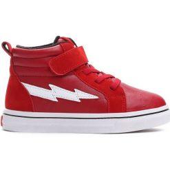 Czerwone Buty Sportowe Chilly Morning. Czerwone buciki niemowlęce Born2be, z materiału, z okrągłym noskiem, na platformie. Za 79,99 zł.