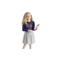 Bluzka dziewczęca gładka, z printem Myszka Minnie standardowa. Szare bluzki dziewczęce TXM, z motywem z bajki. Za 14,99 zł.