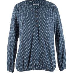 Tunika z długim rękawem bonprix indygo wzorzysty. Niebieskie tuniki damskie z długim rękawem bonprix. Za 74,99 zł.